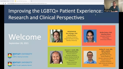 Thumbnail for entry Improving the LGBTQ+ Patient Experience: Research and Clinical Perspectives