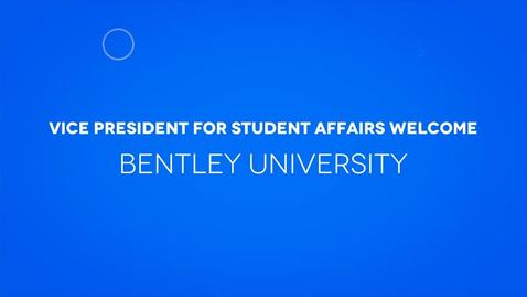 Thumbnail for entry Vice President for Student Affairs and Dean of Students Welcome