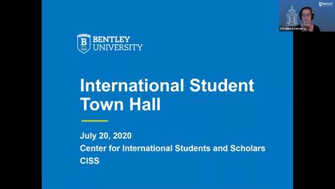 Thumbnail for entry July 2020 International Students Webinar