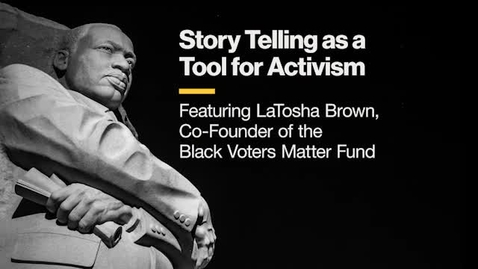 Thumbnail for entry Story Telling as a Tool for Activism