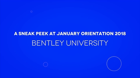 Thumbnail for entry A Sneak Peek at January Orientation 2018