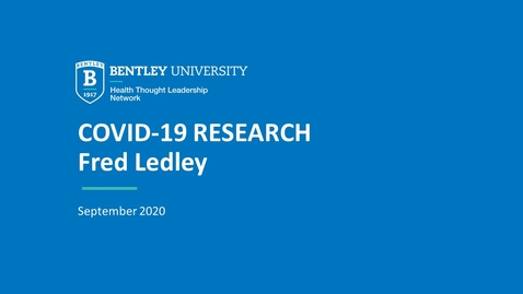 Thumbnail for entry Fred Ledley: Financing, public policy & drug development