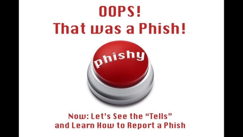 Thumbnail for entry Phish Tells