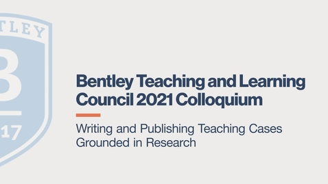 Thumbnail for entry Writing and Publishing Teaching Cases Grounded in Research