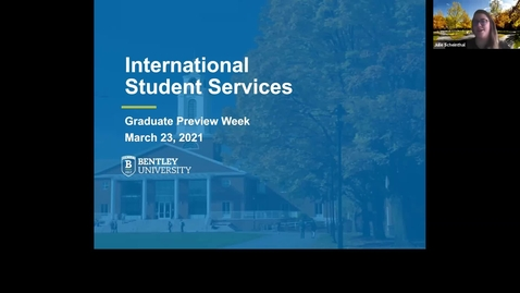 Thumbnail for entry International Student Services - 2021 Graduate Preview Week