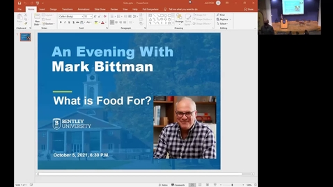 Thumbnail for entry What is Food For? An Evening With Mark Bittman and Panel Discussion - October 5, 2021