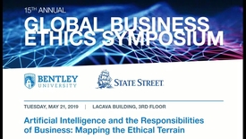 Thumbnail for entry 15th Annual Global Business Ethics Symposium - Panel 3:  Where Do We Go From Here:  The Future of AI - May 21, 2019