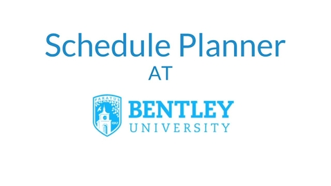 Thumbnail for entry Schedule Planner