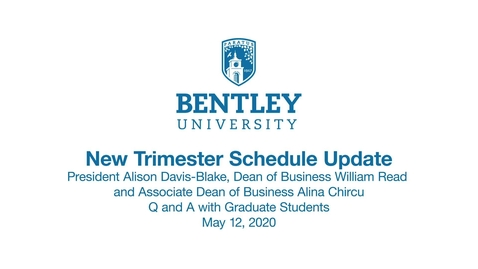 Thumbnail for entry Trimester Update - Q and A with Graduate Students
