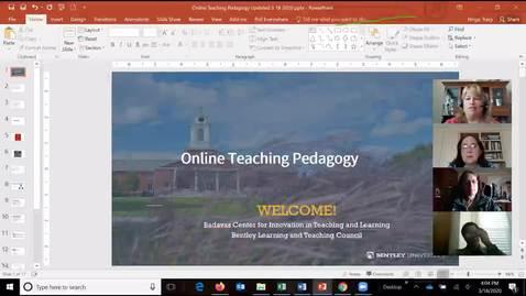 Thumbnail for entry  Quick Start!  Online Pedagogy