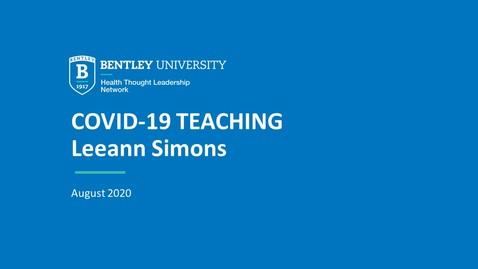Thumbnail for entry Leeann Simons: Modifying health & disease course