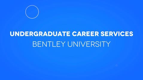 Thumbnail for entry Undergraduate Career Services