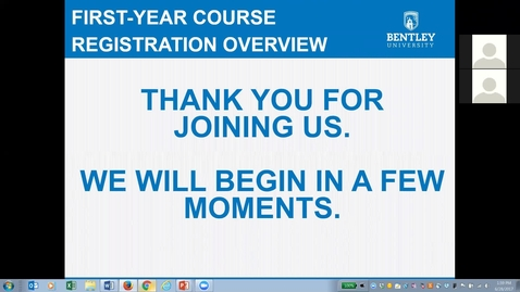 Thumbnail for entry First Year Course Registration Webinar