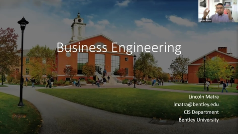 Thumbnail for entry Sample Class:  Business Engineering - 2021 Graduate Preview Week