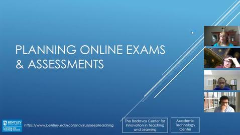 Thumbnail for entry Planning Online Exams & Assessments