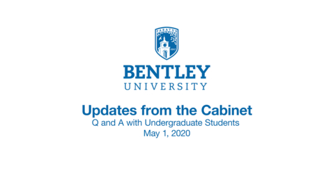 Thumbnail for entry University Updates from the Cabinet: Q and A with Undergraduate Students