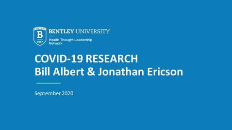 Thumbnail for entry Bill Albert & Jon Ericson: Perceptions & data visualizations