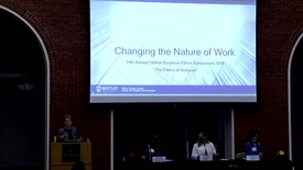 Thumbnail for entry 14th Annual Global Business Ethics Symposium: Changing Nature of Work