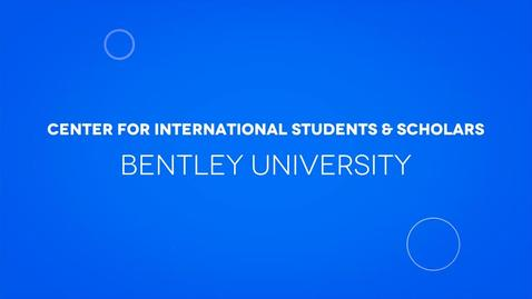 Thumbnail for entry Center for International Students & Scholars