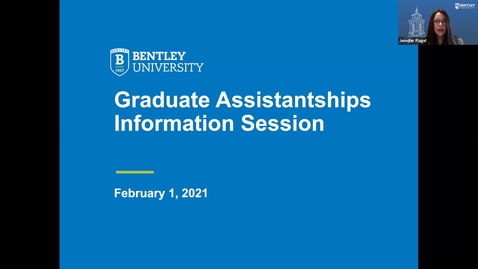 Thumbnail for entry Graduate Assistantships Information Session