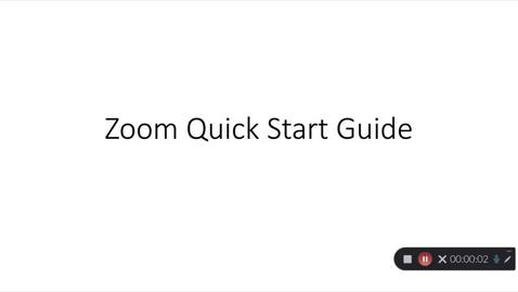 Thumbnail for entry Zoom Quick Start Guide