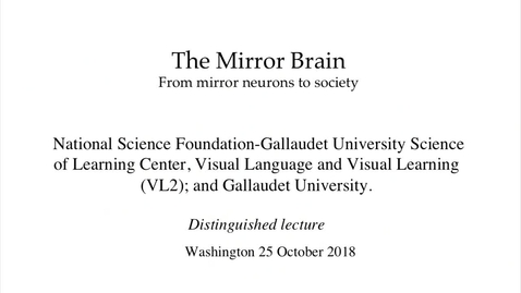 Thumbnail for entry PEN Distinguished Lecture Series - Dr. Giacomo Rizzolati - 10/25/18