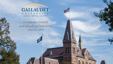 Graduate Awards and Hooding Ceremony - May 16, 2019