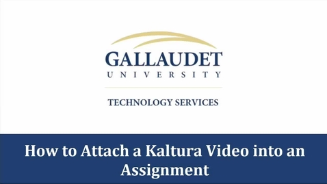 Thumbnail for entry How to link a Kaltura video in Blackboard