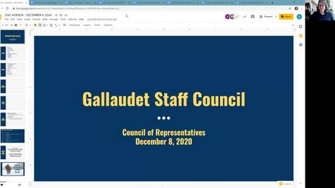 Thumbnail for entry GSC Meeting December 8, 2020