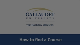 Thumbnail for entry how to find course