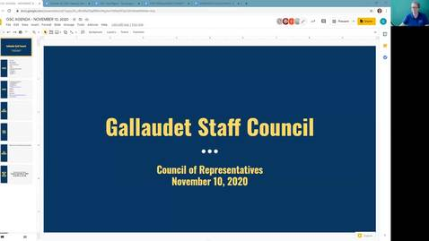 Thumbnail for entry GSC Meeting November 10, 2020