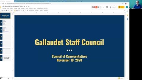 Thumbnail for entry GSC Meeting November 10, 2020