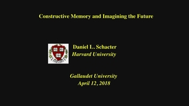 Thumbnail for entry PEN Distinguished Lecture Series - Dr. Daniel L. Schacter  - 4/12/18