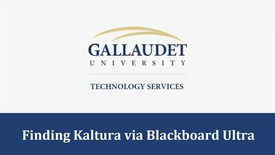 Thumbnail for entry Finding Kaltura via Blackboard Ultra