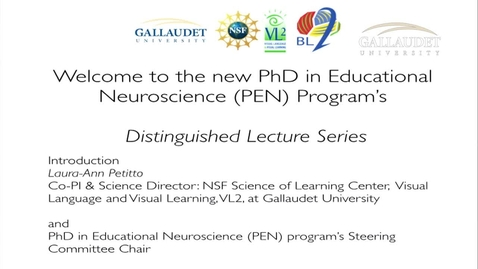 Thumbnail for entry PEN Distinguished Lecture Series - Dr. Daniel Ansari - 9/25/14