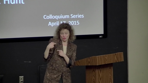 Thumbnail for entry Danielle Hunt - Professional Identity Development of Interpreters - 4/17/15