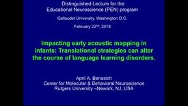 Thumbnail for entry PEN Distinguished Lecture Series - Dr. April Benasich - 02/22/2018