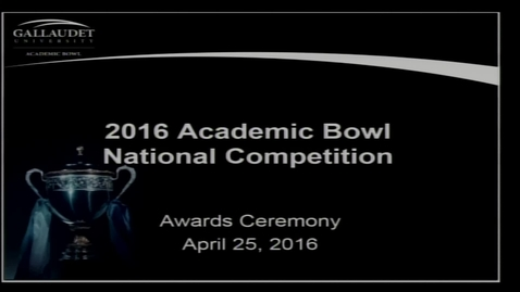 Thumbnail for entry 2016 National Academic Bowl Awards Ceremony