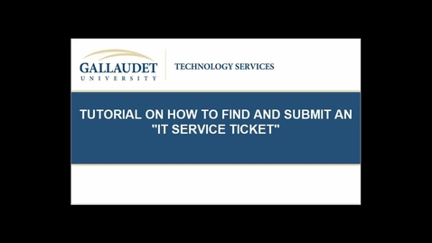 Thumbnail for entry Tutorial Service Ticket