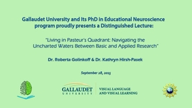Thumbnail for entry PEN Distinguished Lecture Series - Hirsh-Pasek & Golinkoff - 9/28/15