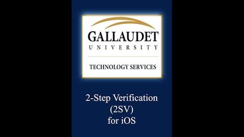 Thumbnail for entry 2-Step Verification (2SV) - ios