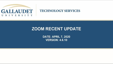 Thumbnail for entry Zoom Update 4.6.10 Tutorial