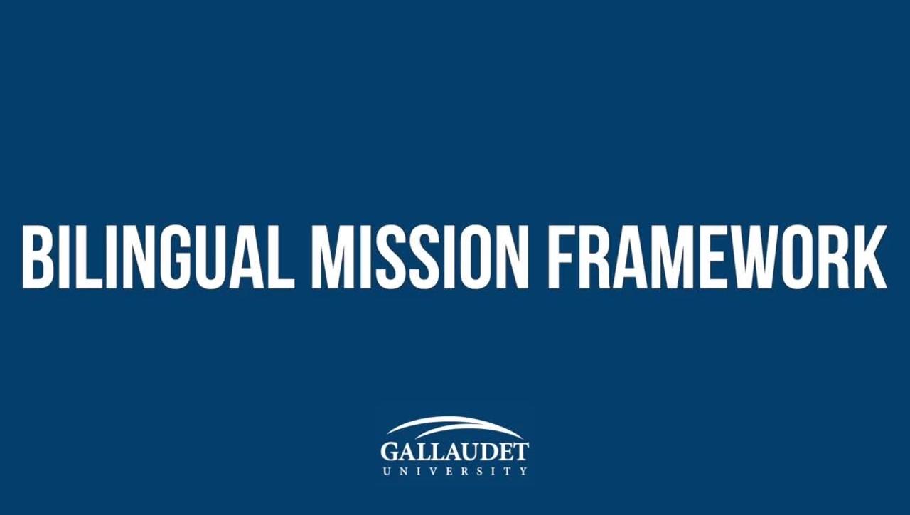 Bilingual Mission Framework: SECOND DRAFT