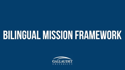 Thumbnail for entry Bilingual Mission Framework: SECOND DRAFT