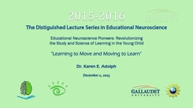 Thumbnail for entry PEN Distinguished Lecture Series - Dr. Karen E. Adolph - 12/2/15