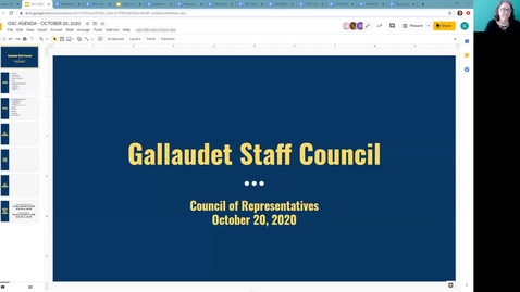 Thumbnail for entry GSC Meeting on October 20, 2020