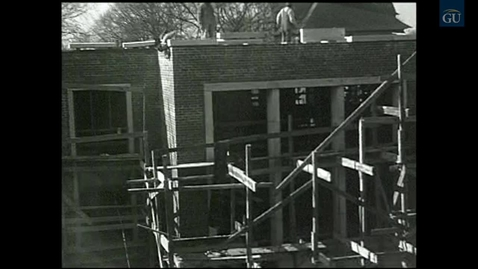 Thumbnail for entry Deaf Film 148-4: Construction of Edward Miner Gallaudet Memorial Library (EMG) (1956)