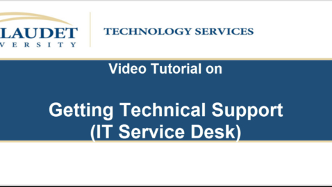 Thumbnail for entry Getting Technical Support (mygu - IT Service Desk)