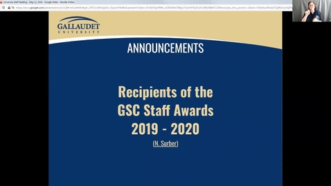 Thumbnail for entry GSC Staff Awards 2020