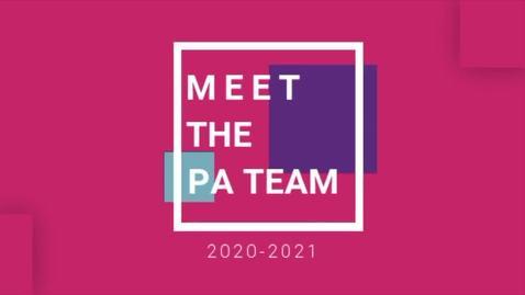 Thumbnail for entry Peer Advisor Team Fall 2020
